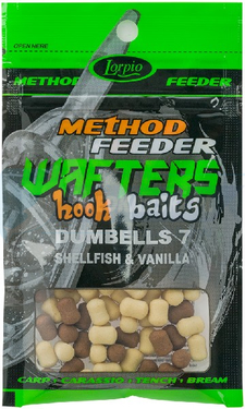 LORPIO DUMBELLS SHELLFISH & VANILLA 7 mm 15g - Przyneta Method Feeder WAFTERS Hook Baits