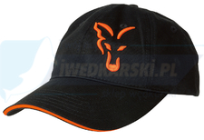 FOX czapka Black & Orange BASEBALL CAP