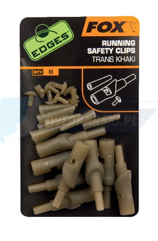 FOX Edges Running Safety Clips - trans khaki x 8