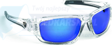 Fox Rage Okulary Sunglasses wraps trans / Mirror Blue / brown lense
