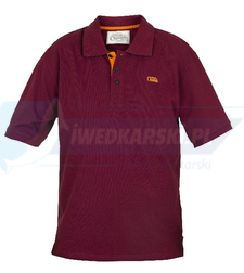 FOX Fox Chunk Burgundy  / Orange Polo Shirt  - S