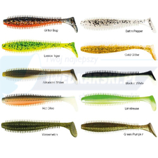 Fox Rage Spikey Shad 90 mm - Gold Glitter