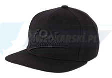 Fox czapka z daszkiem Flat Peak Snap Back Black