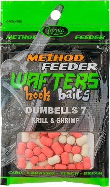 LORPIO DUMBELLS KRILL & SHRIMP 7 mm 15g - Przyneta Method Feeder WAFTERS Hook Baits