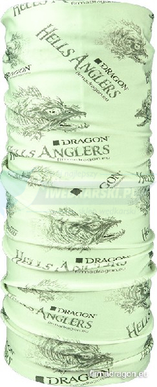 DRAGON Buff HELLS ANGLERS Lycra UV-protection jasnozielony