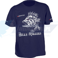 DRAGON T-shirt DRAGON HELLS ANGLERS OKOŃ XL granatowy