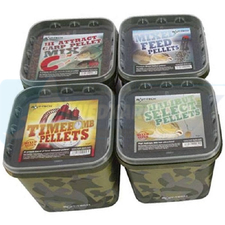 Bait Tech Camo Bucket Halibut Select Pellets 3kg