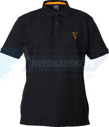FOX KOSZULKA POLO Fox Coll Black orange Polo Shirt XXL