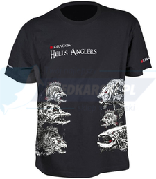 DRAGON T-shirt DRAGON HELLS ANGLERS MIX M czarny (GLOW)
