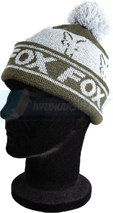 FOX czapka zimowa Fox green / silver lined bobble
