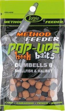 LORPIO DUMBELLS pływający Shellfish & Halibut 8x10mm 15g  - Przyneta Method Feeder POP-UPS