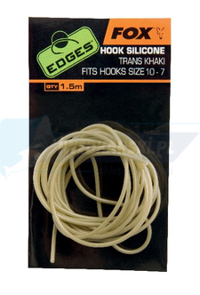 FOX Edges Hook Silicone Size 10-7 - trans khaki  x 1.5m