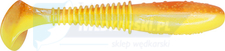 "DRAGO Invader PRO 2.5""/6cm 5szt. SUPER YELLOW/CLEAR orange glitter"