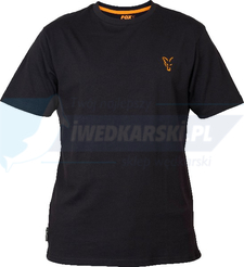 FOX KOSZULKA T-SHIRT Fox Coll black Orange T- Shirt  MEDIUM