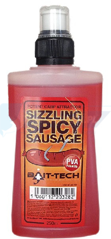 Bait Tech Liquid Sizzling Spicy Sausage 250ml