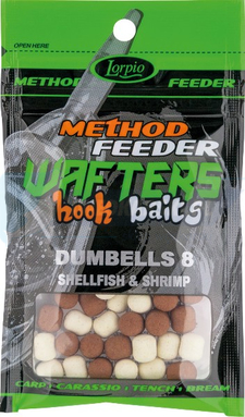 LORPIO DUMBELLS zbalansowane Shellfish & Shrimp 8mm 15g  - Przyneta Method Feeder wafters