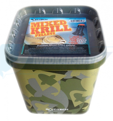 Bait Tech Camo Bucket Mixed Krill Pellets 2.5kg