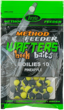 LORPIO BOILIES PINEAPPLE 10 mm 15g - Przyneta Method Feeder WAFTERS Hook Baits