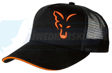 FOX czapka Black & Orange BASEBALL TRUCKER CAP