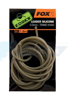 FOX Edges Leader Silicone 0.5mm - trans khaki x 1.5m