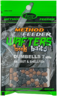 LORPIO DUMBELLS HALIBUT & SHELLFISH 10 mm 15g - Przyneta Method Feeder WAFTERS Hook Baits