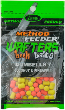 LORPIO DUMBELLS COCONUT & PINEAPPLE 7 mm 15g - Przyneta Method Feeder WAFTERS Hook Baits