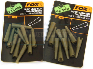 FOX Edges Size 10 LeadClip Tail Rubbers Khaki