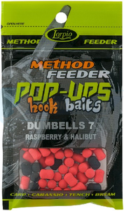 LORPIO DUMBELLS RASPBERRY & HALIBUT 10 mm 15g - Przyneta Method Feeder POP-UPS Hook Baits