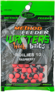LORPIO BOILIES RASPBERRY 10 mm 15g - Przyneta Method Feeder WAFTERS Hook Baits