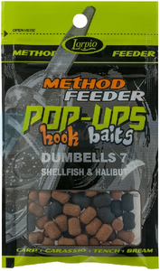 LORPIO DUMBELLS SHELLFISH & HALIBUT 10 mm 15g - Przyneta Method Feeder POP-UPS Hook Baits