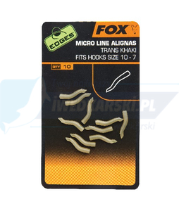 FOX Edges Micro Line Aligner Hook sz 6-2 - trans khaki x 10pc