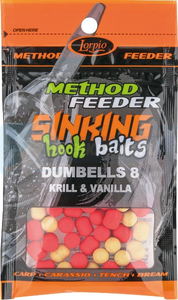 LORPIO DUMBELLS Krill & Vanilla 8x10mm 20g  - Przyneta Method Feeder SINKING Hook Baits
