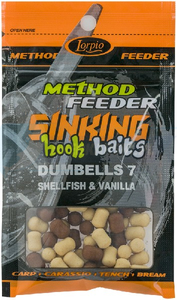 LORPIO DUMBELLS SHELLFISH & VANILLA 7x10mm 20g  - Przyneta Method Feeder SINKING Hook Baits