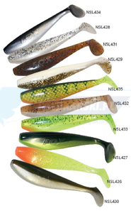 "FOX rage Zander Shad BULK 4""/10cm salt n pepper"