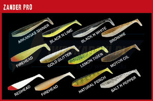 Fox Rage Rage Zander Shad Bulk 7.5cm - Red Head