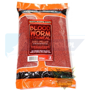 SONUBAITS Pellet Feed Pellets Bloodworm 2mm 900g