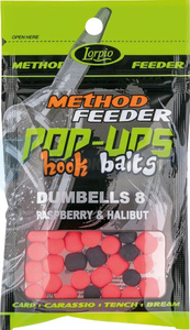 LORPIO DUMBELLS pływający Raspberry & Halibut 8x10mm 15g  - Przyneta Method Feeder POP-UPS