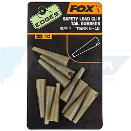 FOX Edges Size 7 LeadClip Tail Rubbers Khaki
